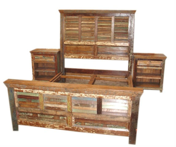 Cama de madera reciclada camas identificaci n del producto for Sofa cama de madera reciclada