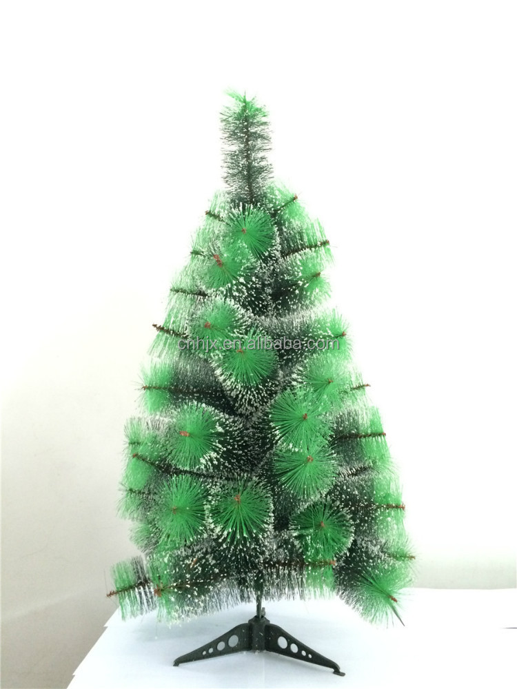 60CM Mini Snowing Colors Mixed Pine Needle Chrsitmas Tree, Cream Christmas Tree Decoration, Table Christmas Tree Wholesale