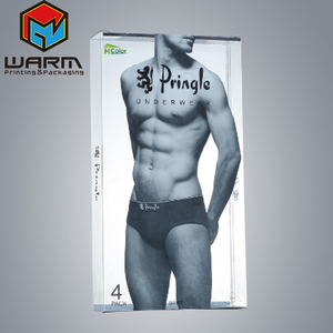 Plastic Mens Underwear Packaging Box Custom Design Boxes for Underwear Packaging