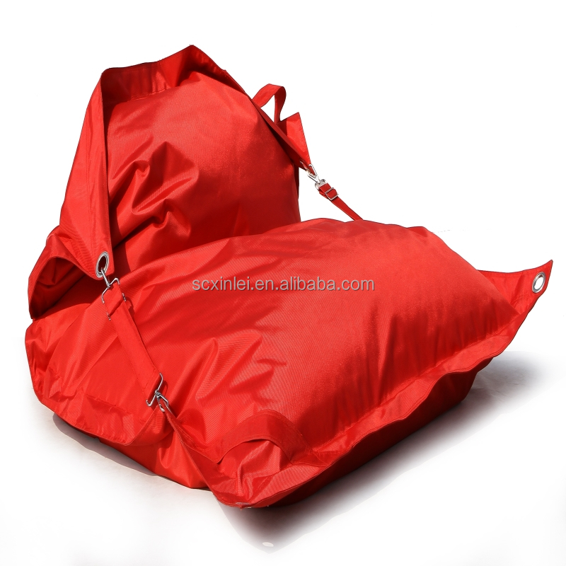 Outdoor buggle up large beanbag chair / bean bag puff