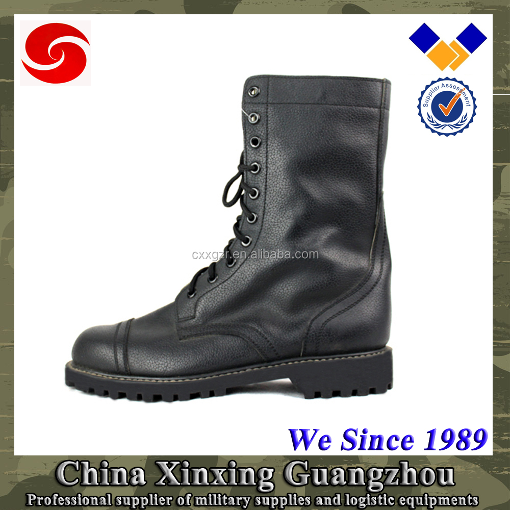 Summer black Army Men Leather Boots Waterproof Delta Boots
