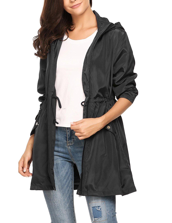 d94ba236ee1 Get Quotations · Zouvo rain Jacket Women Waterproof with Hood Winter  Raincoat Women Raincoat Women Running Raincoats