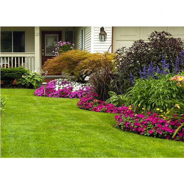 Synthetic garden use artifical grass turf lawn, Double color
