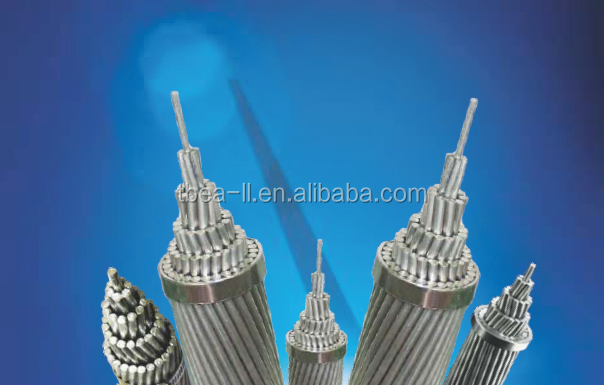 Overhead AAC/AAAC/ACSR/ACAR Bare Conductor Electrical Cable Size Power Distribution and Transmission line