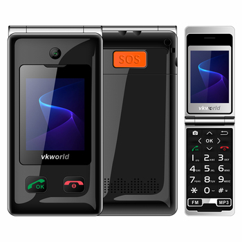 New 2g feature phone  Vkworld Z5  2.4inch 240*320 Pixels keypad mobile phone SOS 1000mah flip mobile phone