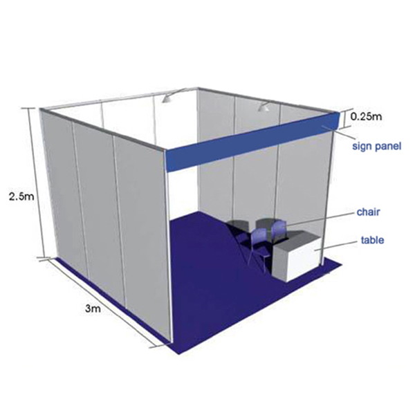 Exhibition Booth Standard Size : Exhibition stand trade fair standard shell scheme booth