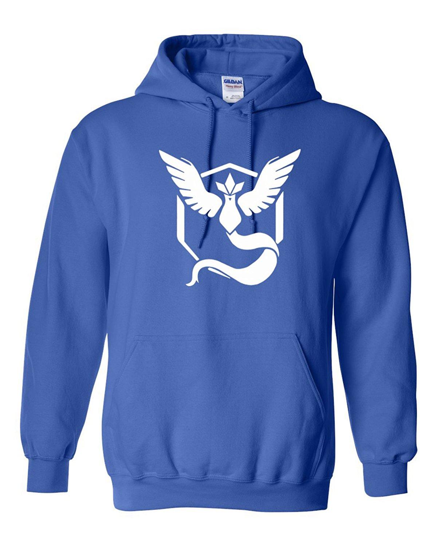 5c8507aa6 Custom Apparel R Us Pokemon Go Gym Team Mystic Blue Mens Womens Pull Over  Hoodie