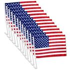 United States American Window Clip on USA Car Flag