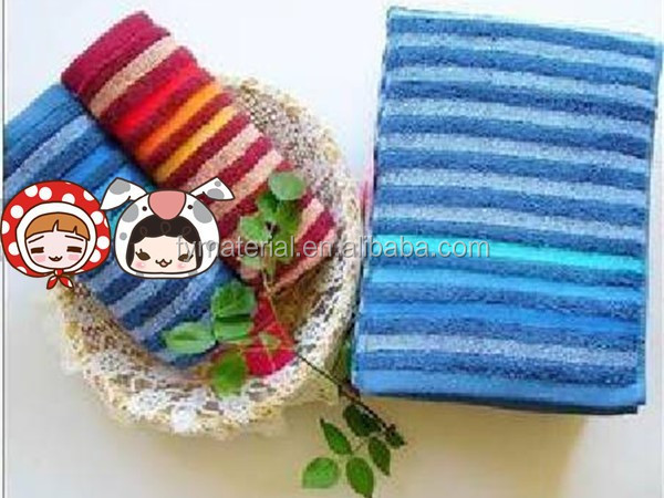 Chinese wholesale soft colorful stripe microfiber towel sport/ yoga towel microfiber/ microfiber towel fabrics