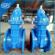 DIN standard F4 F5 Series DN400 16 inch Resilient seat gate valve material GGG50 PN10 PN16 non-rising stem gate valve