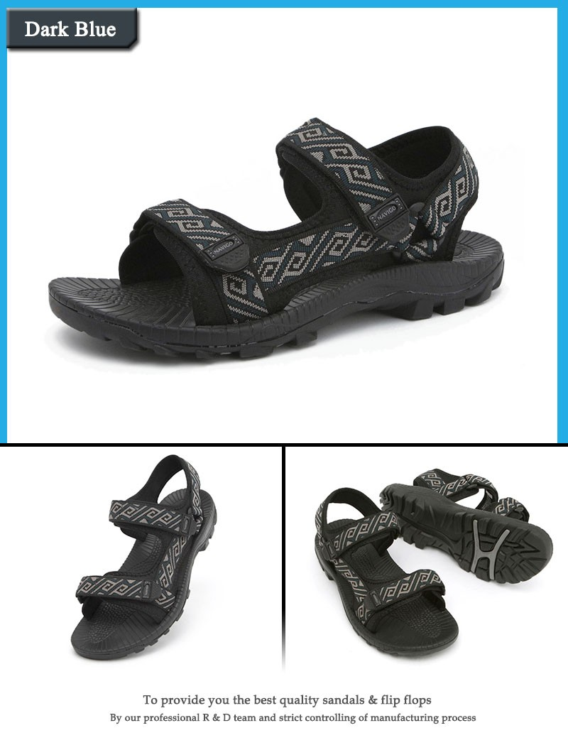 c9cffe207fadb ... breathable mens outdoor sandals slippers summer black rubber beach  sandals stripe sport sandals outdoor casual shoes ...