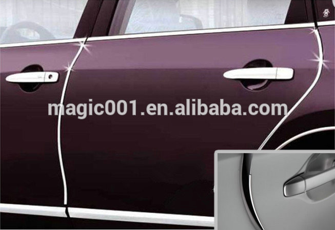 new 15m x 15mm chrome moulding trim tape car protector strip moldings buy protective molding. Black Bedroom Furniture Sets. Home Design Ideas