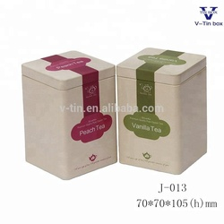 A 2018 Hot Sell Square Shape Tea Packaging Tin Box