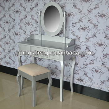 Ivory Rose Dressing Table And Mirror Stool Set French Bedroom ...