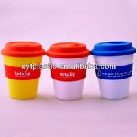 BPA free plastic coffee mug with lid(XYT-CU306)