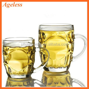 high quality mexican blown beer glass mugs with handles - Glass Beer Mugs