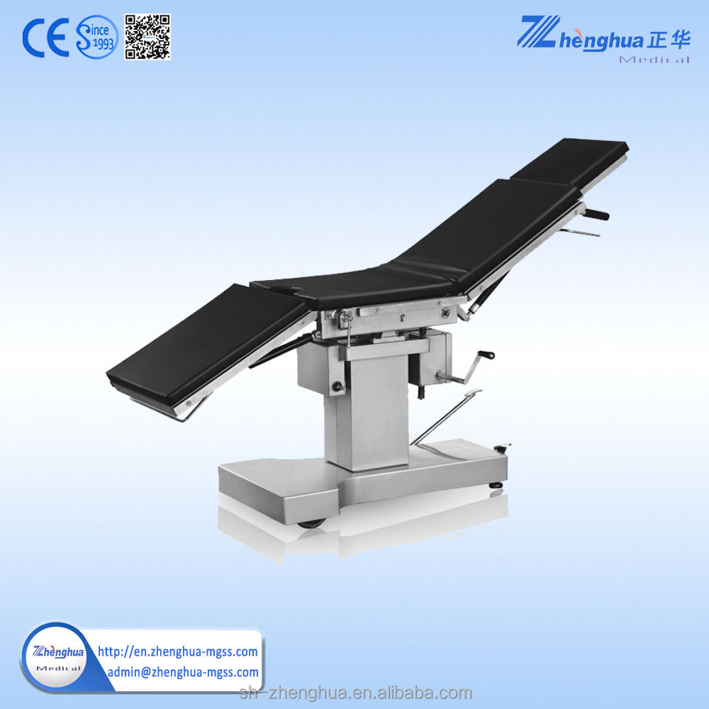 mechanical operated stainless steel patient sick OT table tabletop can be sliding