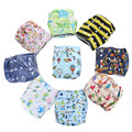 1PC Reusable Waterproof Cloth Diaper Baby Nappy Printed PUL Single Snap Suede Cloth Inner Whosale Selling