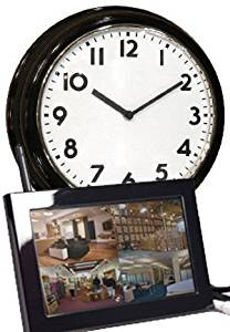 EyeSpySupply Wireless Covert Wall Clock With LCD Monitor and Remote View