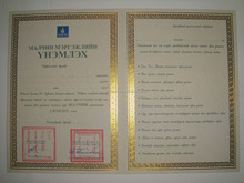 Gold Stamping Printed Certificate