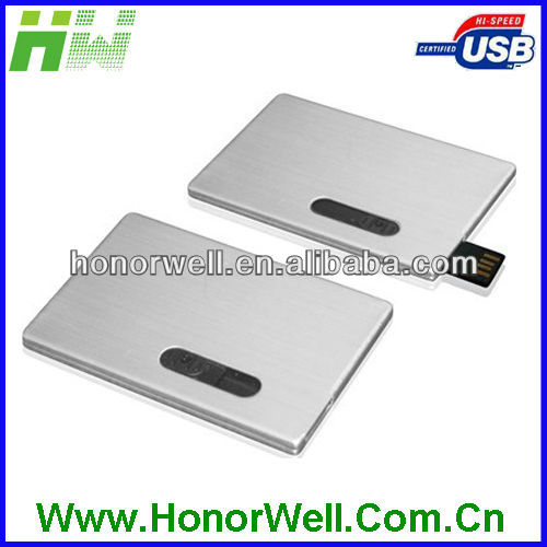 Metal usb flash drive card for hot sell free logo