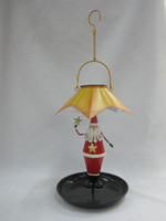 solar santa lantern with bird feeder solar bird feeder with LED light solar hanging LED lantern SO6425