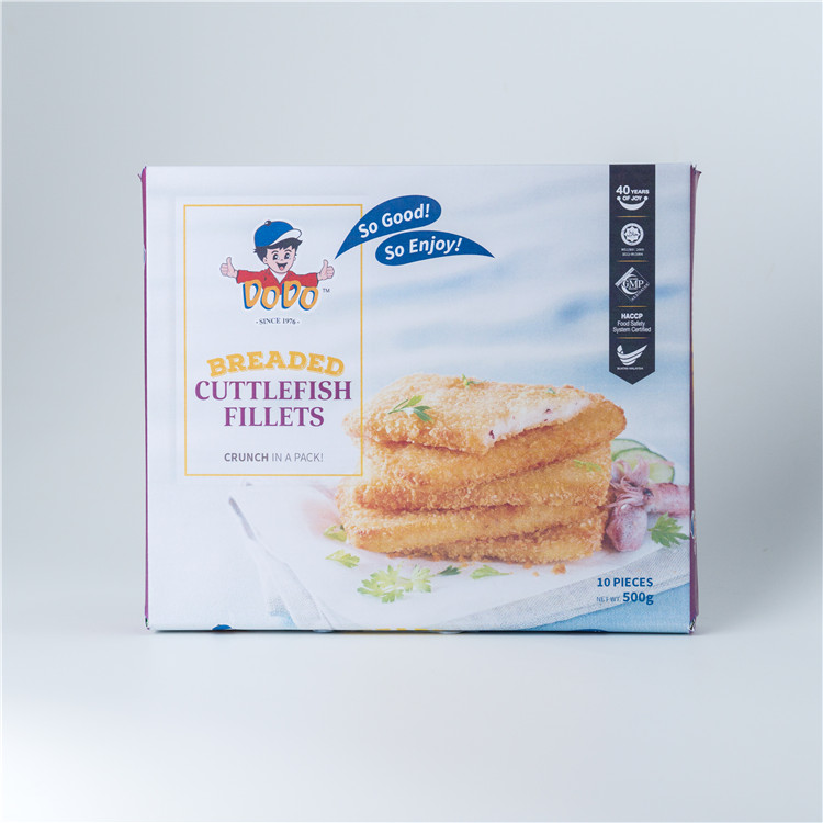 Wholesale Singapore Food DODO Breaded Cuttlefish Fillets