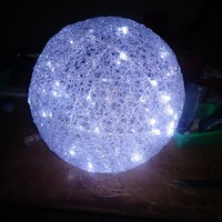 Decorative Acrylic LED 3D Motif Light Large Outdoor Christmas Balls Lights