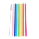 Clear Solid Colors Plastic Acrylic straw FDA reusabler silicone folding drinking straw