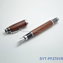 Luxury promotion gift wood fountain pen set