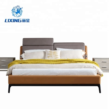 Foshan Bed Factory Leather Bed with Motion bed head 3D930, View ...