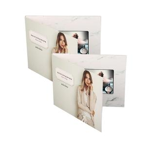 Hot sale 7 inch customized lcd video business brochure hd video greeting card free print video brochure tv in a card