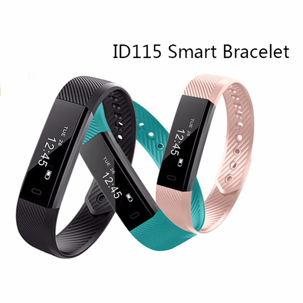 Id115 Smart Bracelet Fitness Tracker Sleep Monitor Track Wristband Watch Alarm Clock With Step Counter Hr Sport