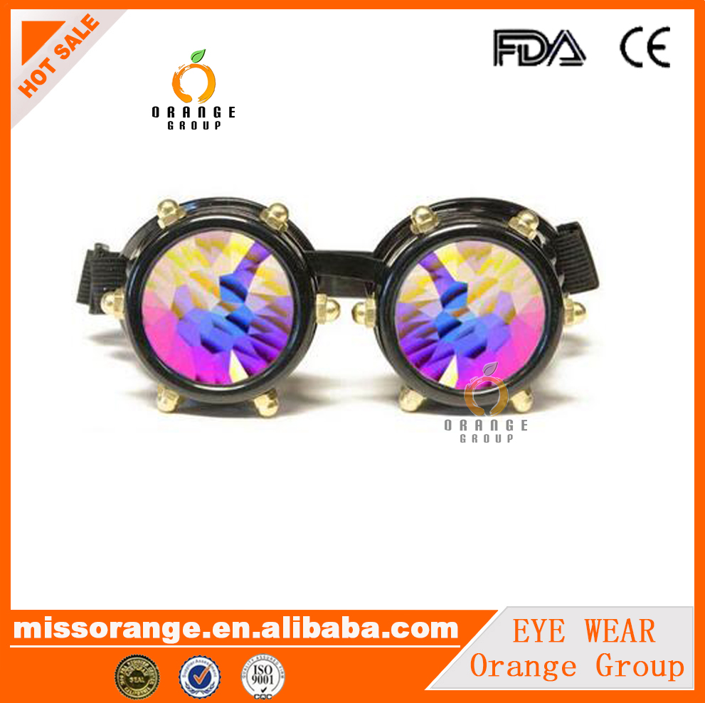 toy sunglass rave eyewear rave kaleidoscope goggles trippiest glasses for music festival goggles wholesaler