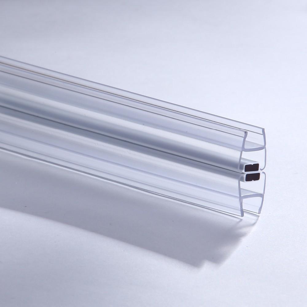 Glass Sliding Door Magnetic Pvc Seal Strip 180 Degree Shower Door ...