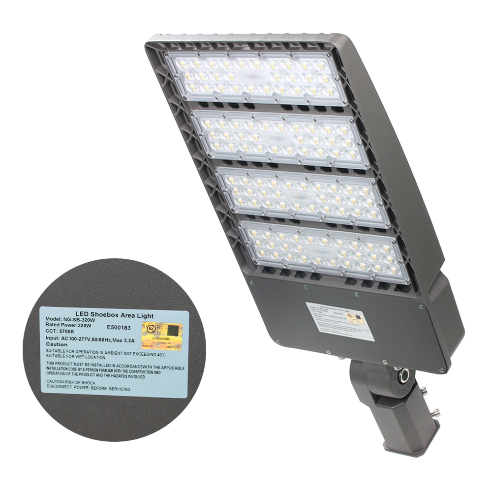 UL DLC LED parking lot shoebox street area Light 150W 300W 5700K Daylight IP65