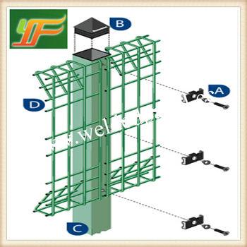 Welded Metal Fencing Panels Green Powder Bending Garden Fencing ...