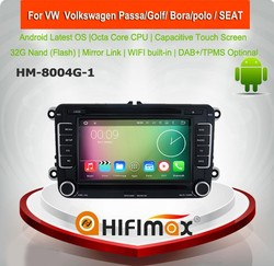HIFIMAX Android 6.0 car radio gps for vw golf 6 car dvd system gps navigation for vw golf mk6 car radio 2-din android gps