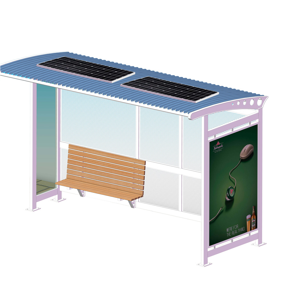 product-City public modern Stainless steel structure bus stop shelter design-YEROO-img-4