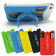 New eco-friendly 3m sticker silicone mobile phone adhesive card holder with stand wallet