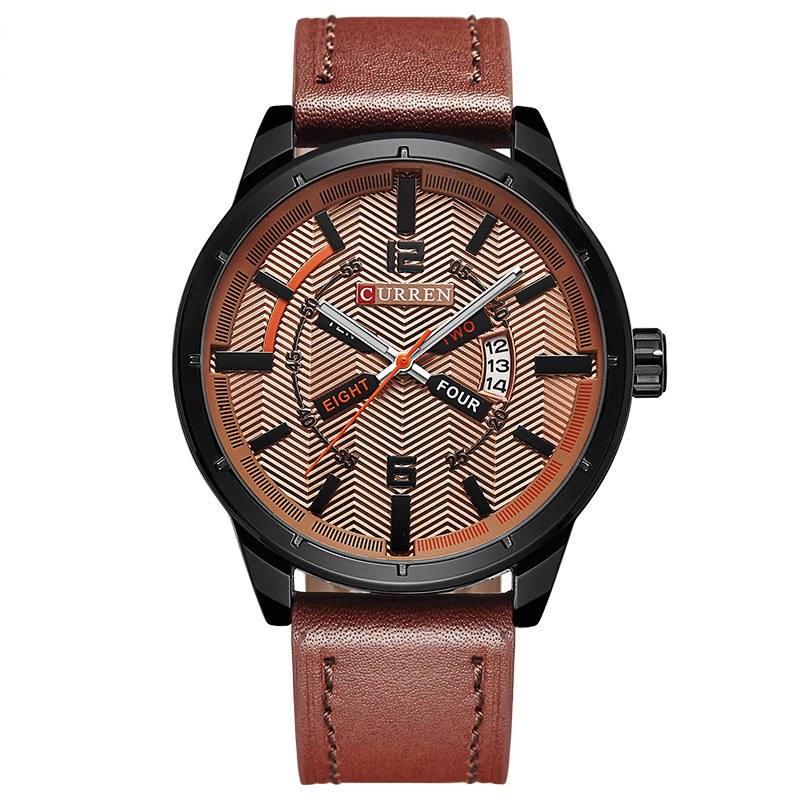 Hotselling Simplicity Casual Men's Big Dial Analog Quartz Leather Band Wristwatch фото