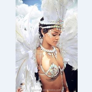 2018 Carnival Costumes band party with feather headpiece carnival wings for queen carnival wire costumes