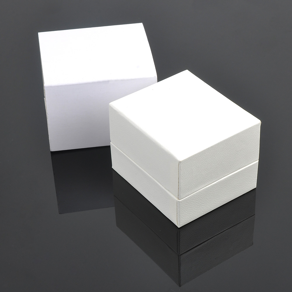 2019 Simple Design Custom Jewelry White Engagement Rose Ring Box