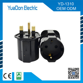 Uk To Euro Plug Adapter Plug With Fuse Outlet Fused Electrical ...