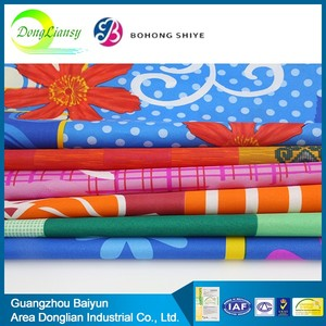Wholesale 92 polyester 8 spandex or 100% polyester fabric