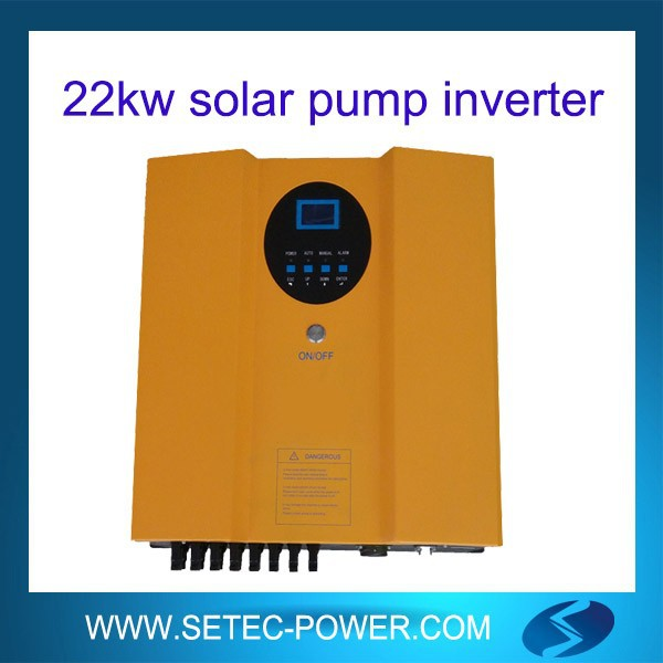 solar pump inverter with dc dc booster save solar panels
