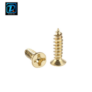 DIN 7982 Brass Flat Head Phillip Drive Self Tapping Screw