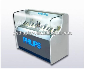 philips cell phone display glass cabinets