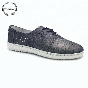 New style flat shoes topway suede leather ladies beautiful flat shoes
