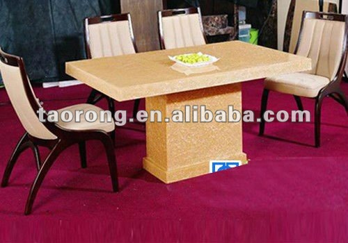 RS-012 Restaurant modern high quality dining set,wood chair and marble table